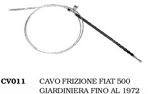 CAVO FRIZIONE FIAT 500 GIARDINIERA FINO AL 1972